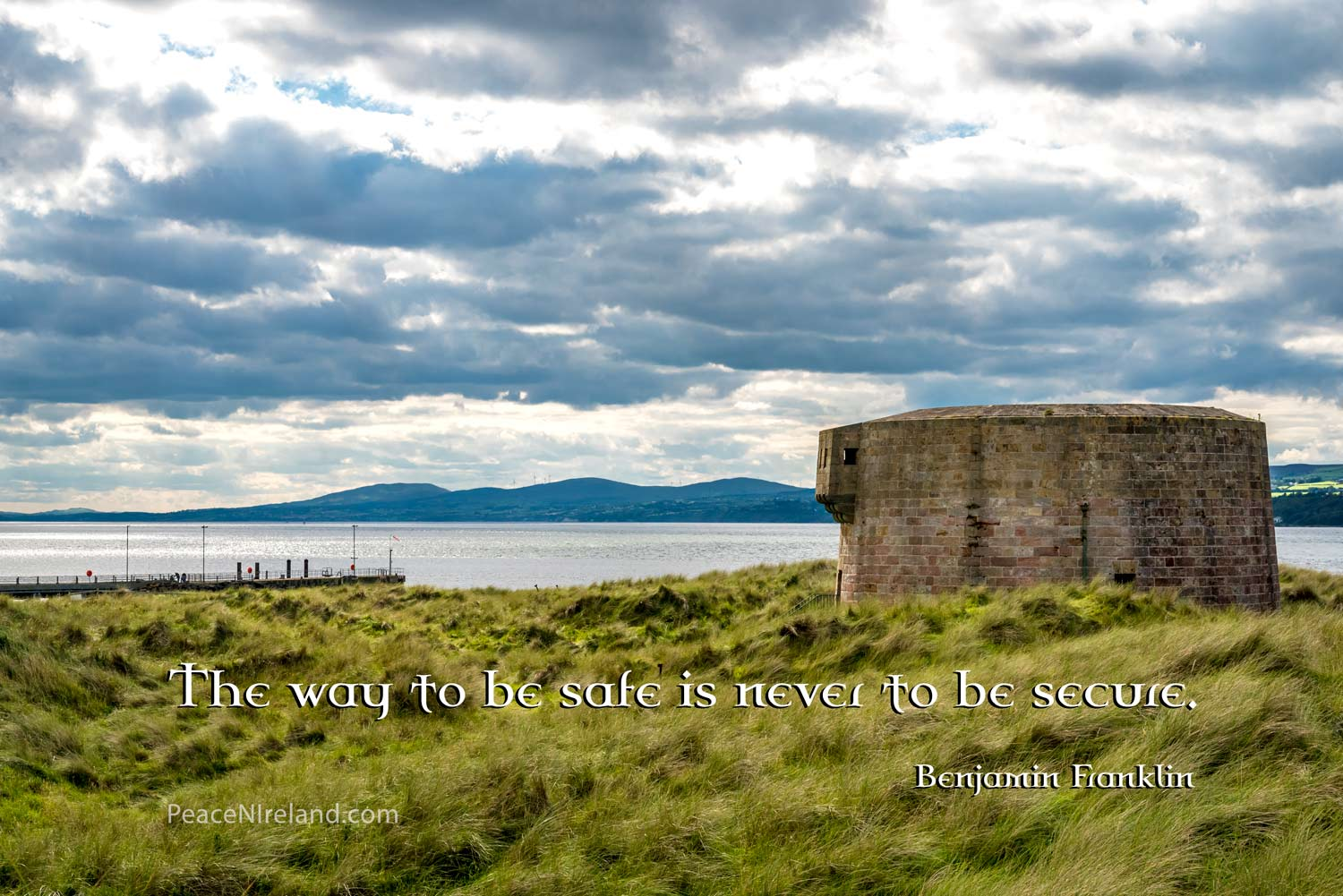 The Martello Tower, Magilligan Point, County Londonderry.