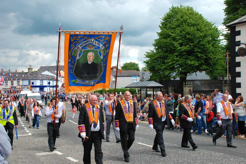A typical 12th July Orange celebration in pre-COVID days.